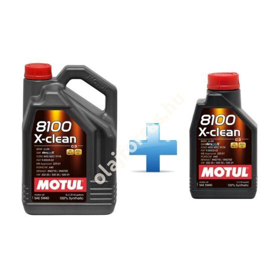 Motul 8100 X-clean 5W-40  5L (4+1L)