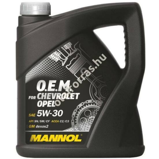 Mannol 7701 O.E.M. for Chevrolet Opel 5W-30 4L (7701)