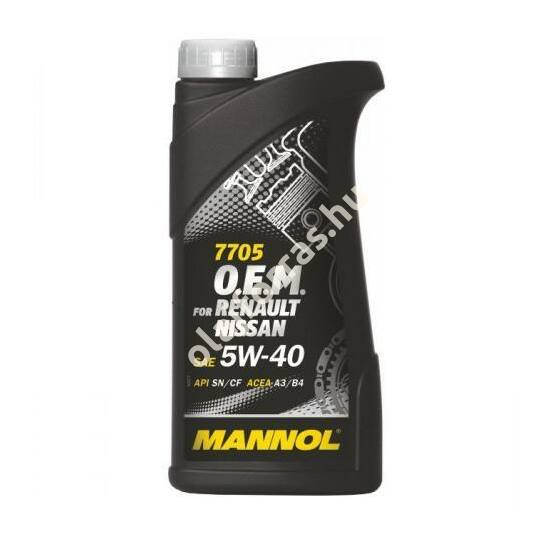 Mannol 7705 O.E.M. for Renault Nissan 5W-40 1L