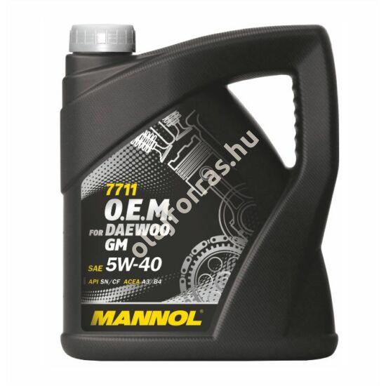 Mannol 7711 O.E.M. for DAEWOO GM 5W-40 4L