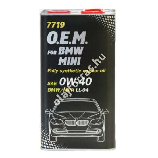 Mannol 7719 O.E.M. for BMW MINI 0W-40 4L