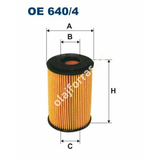 OE640/4 Filron olajszűrő