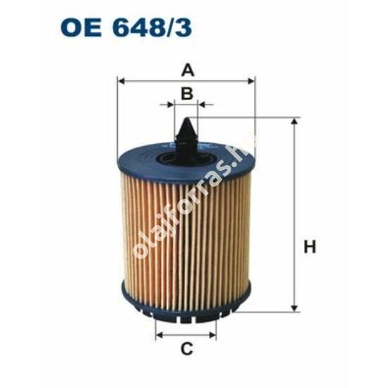 OE648/3 Filron olajszűrő