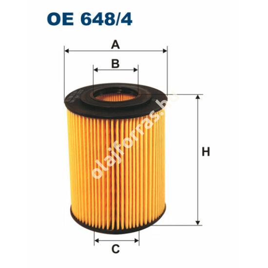 OE648/4 Filron olajszűrő