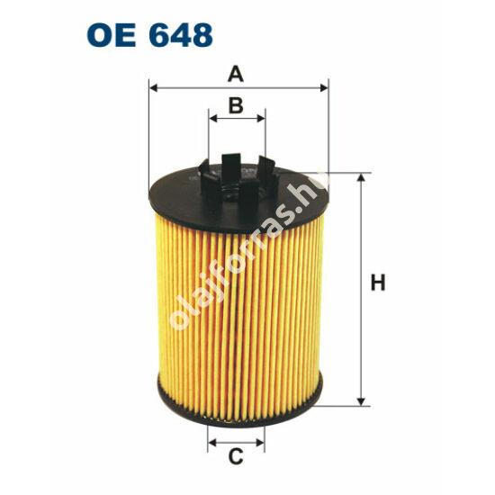 OE648 Filron olajszűrő