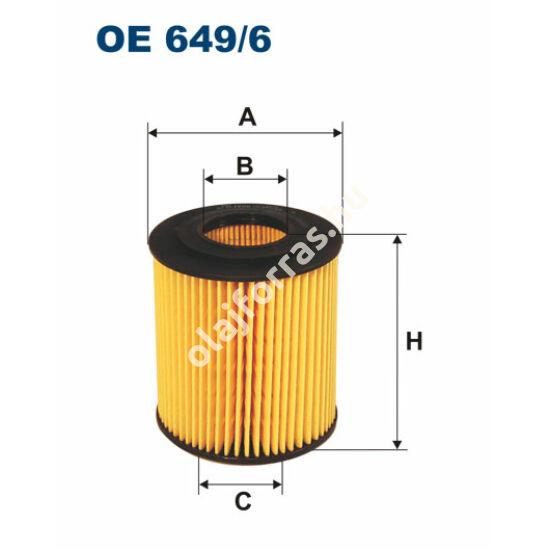 OE649/6 Filron olajszűrő