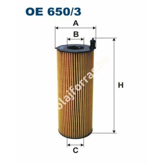 OE650/3 Filron olajszűrő