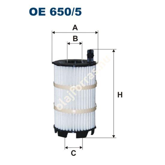 OE650/5 Filron olajszűrő