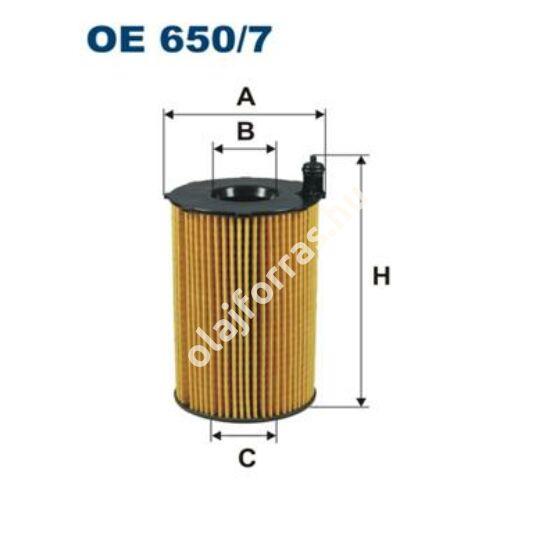 OE650/7 Filron olajszűrő