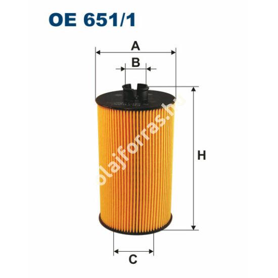 OE651/1 Filron olajszűrő