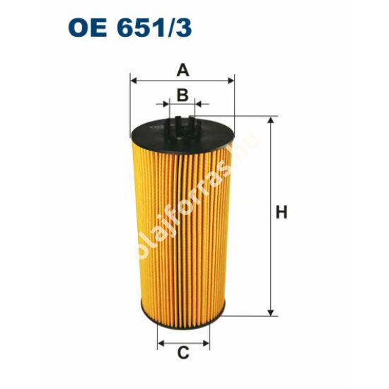 OE651/3 Filron olajszűrő