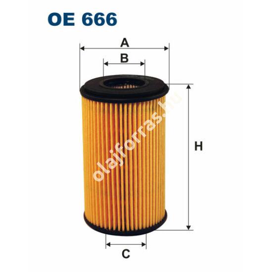 OE666 Filron olajszűrő