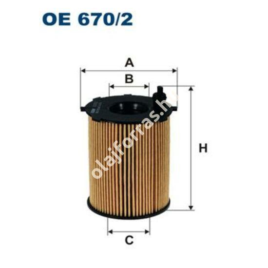 OE670/2 Filron olajszűrő