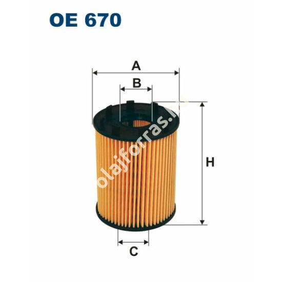 OE670 Filron olajszűrő