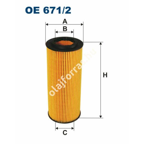 OE671/2 Filron olajszűrő