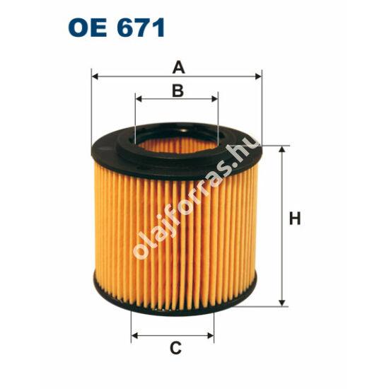 OE671 Filron olajszűrő
