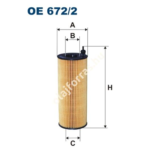 OE672/2 Filron olajszűrő