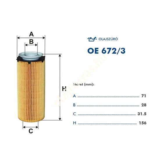 OE672/3 Filron olajszűrő