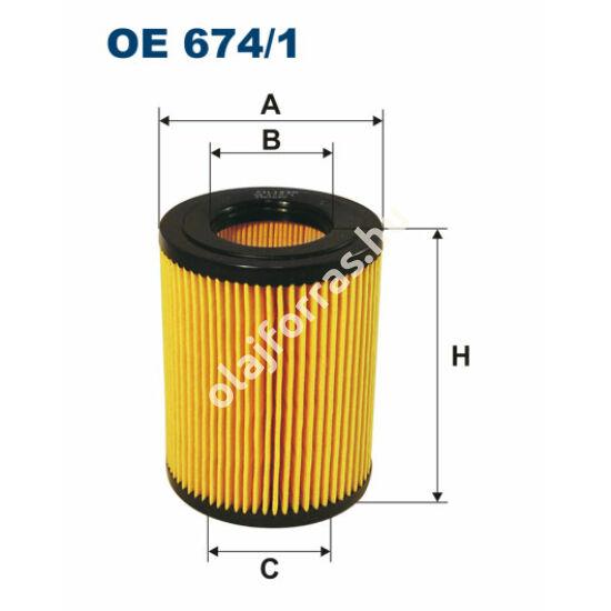 OE674/1 Filron olajszűrő
