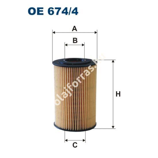 OE674/4 Filron olajszűrő