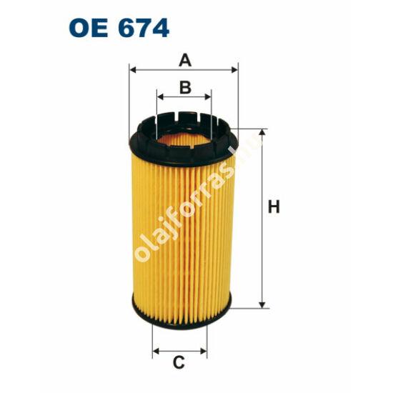 OE674 Filron olajszűrő