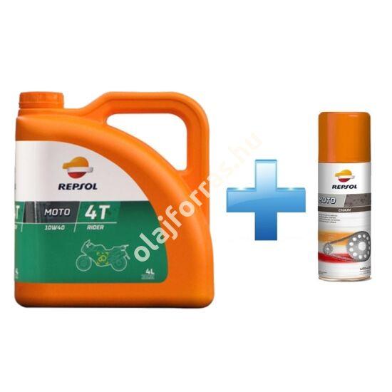 Repsol Moto Rider 4T 10W-40 4L +  Ajándék Repsol Lánckenő Spray