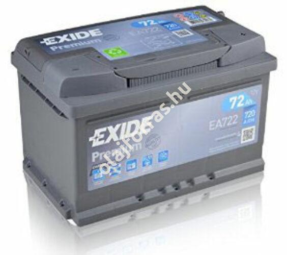 Exide Premium EA722 72Ah jobb+