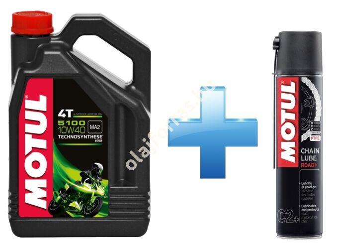 Motul 5100 4T 10W-40 4L + Motul Road Plus lánckenő spray